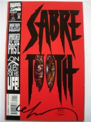 Sabretooth #1 Dynamic Forces DF Signed Mark Texeira COA